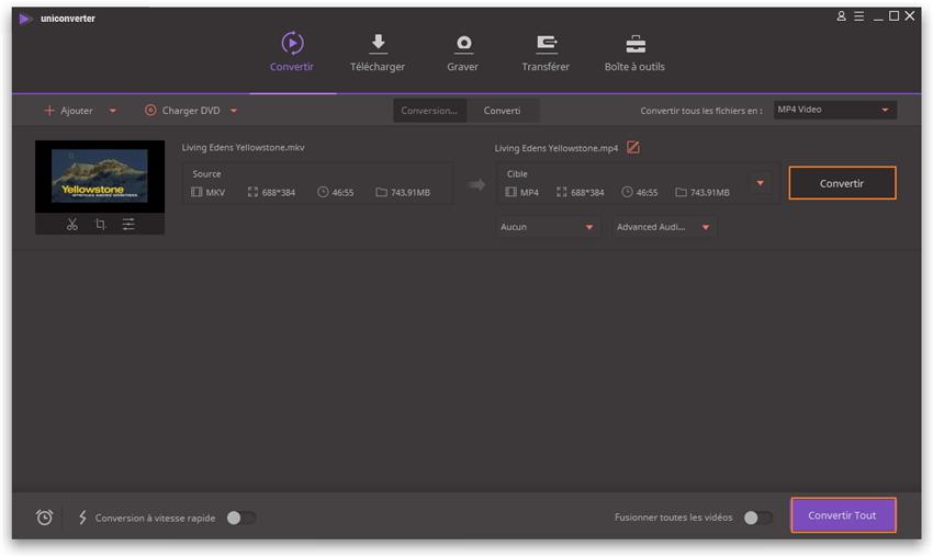 Convertir du MKV en MP4 sans aucune perte de qualité sous Windows et Mac