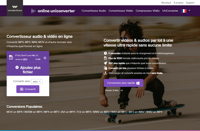 wondershare convertisseur video en ligne