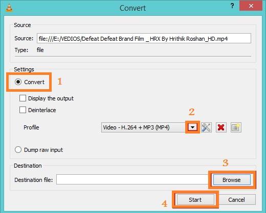 convertir un format vidéo pour réduire sa taille avec VLC