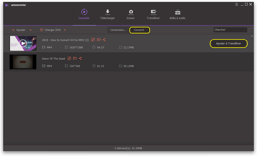 Lancer la compression de la vidéo Android