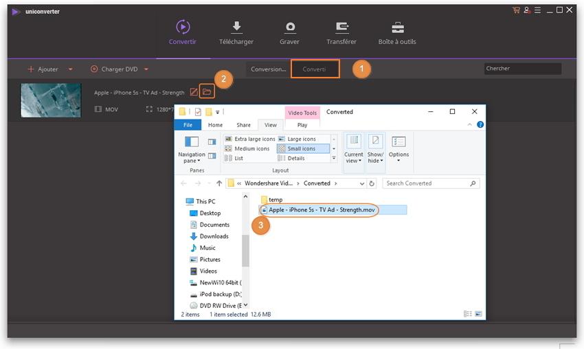 Trouver les fichiers multimedia convertis