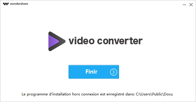 Installer Wondershare UniConverter - Démarrer Wondershare UniConverter
