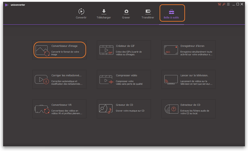 lancer le convertisseur d'image Wondershare