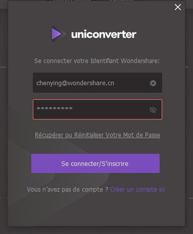 Limitation de connexion UniConverter