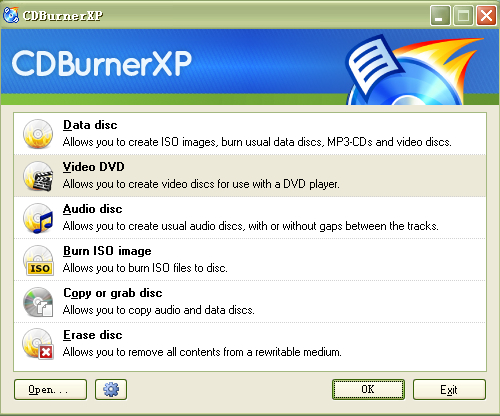 Windows 10 lecteur de DVD - CD Burner XP