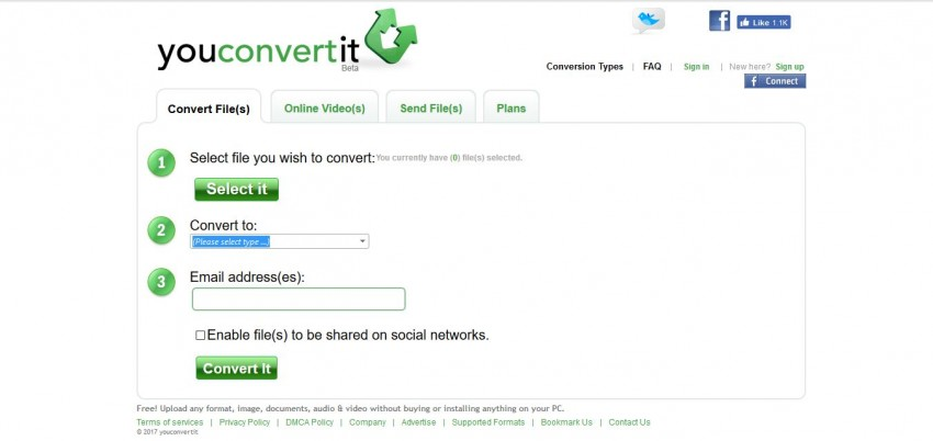 MOV en MP4 Convertisseur en ligne - Youconverterit