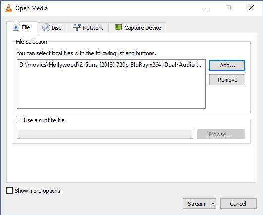 add dlna file to vlc
