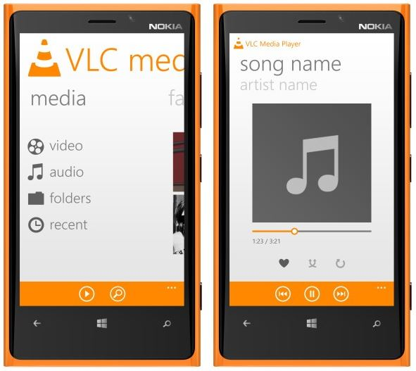 use vlc on windows phone