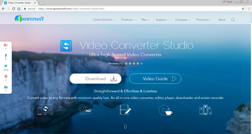 Convert MP4 to M4V online - Apowersoft Video Converter Studio