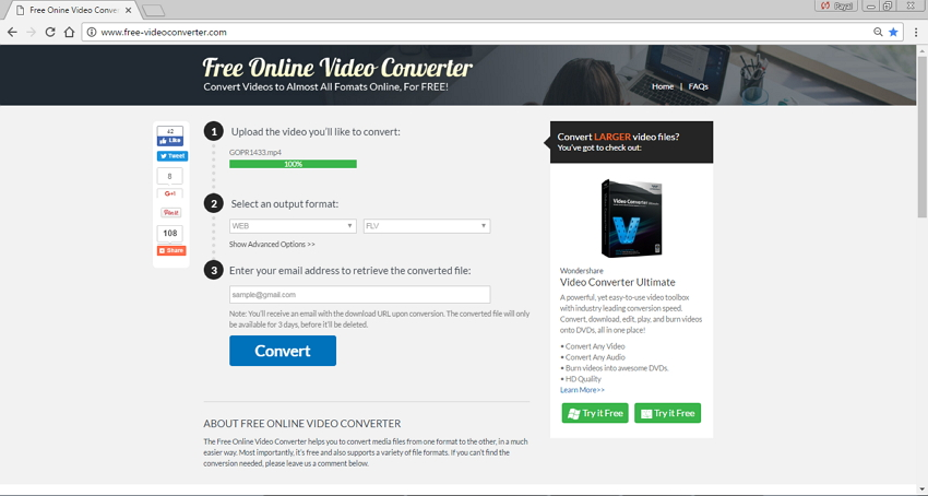 online MP4 to FLV converters - Free Online Video Converter