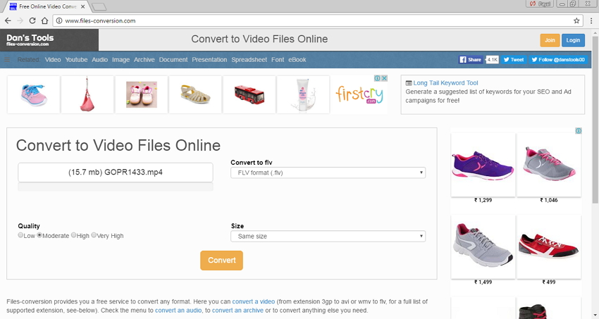 convertisseurs MP4 en FLV en ligne - File Conversion