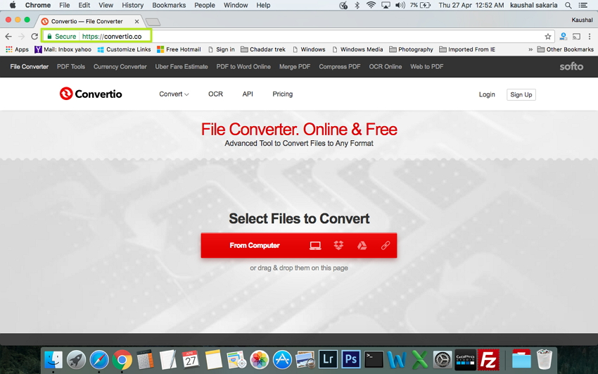 Convert VOB to MP4 on Mac - Open convertio