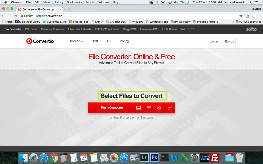 Select Files to this online VOB to MP4 converter