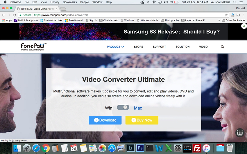 Convertir MP4 en MOV sur Mac - FonePaw UniConverter