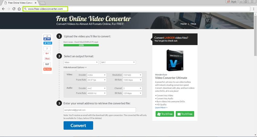 Online MP4 zu M4V Konverter Zamzar Free online video converter
