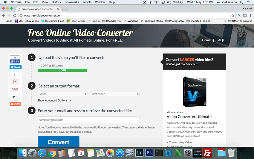 MOV to MP4 Converter on Mac - online converters