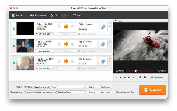 Top dei convertitori MP4 per Mac - Aiseesoft Video Converter
