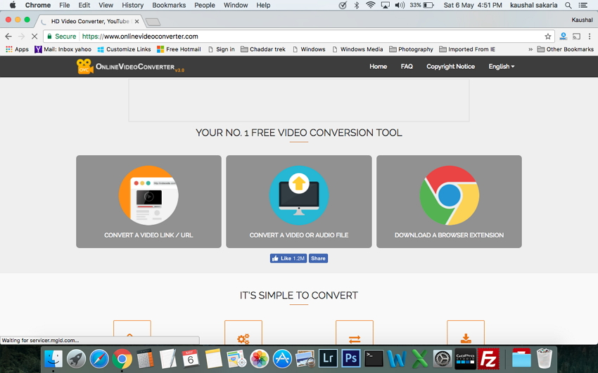 Top dei convertitori MP4 per Mac - Online Video Converter