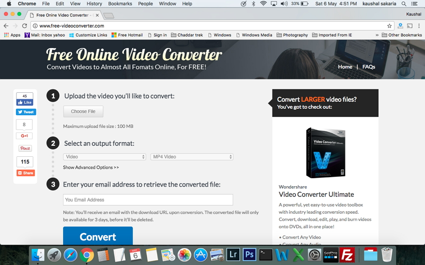 Top dei convertitori MP4 per Mac - Free Online Video Converter