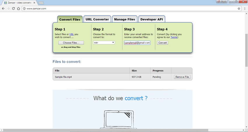 MP4 to WAV Converters Online Zamzar