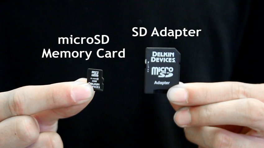 Take out microSD card - transfer camcorder video to PC