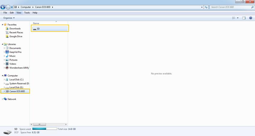 Datei-Explorer verwenden - mini DV Camcorder auf den PC überspielen