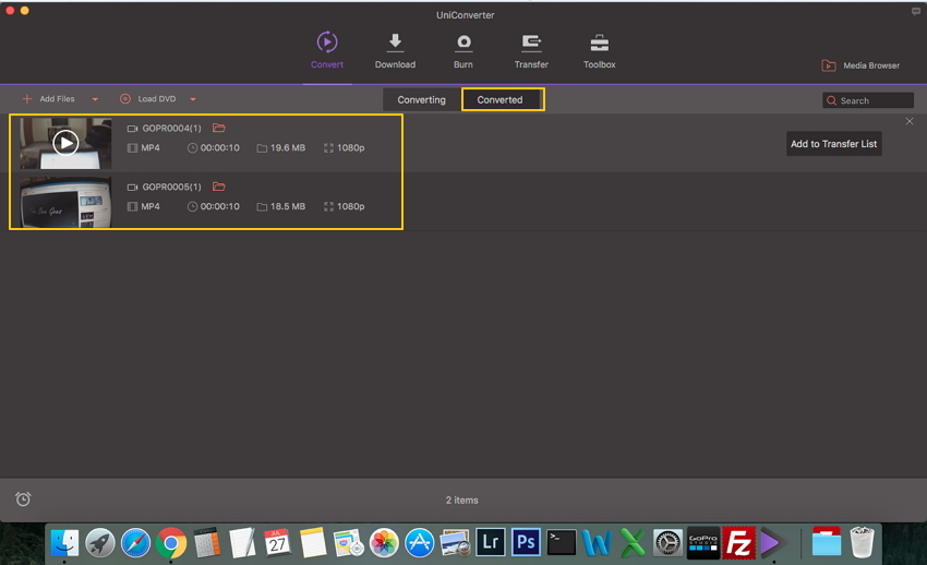 transfer camera videos to Mac