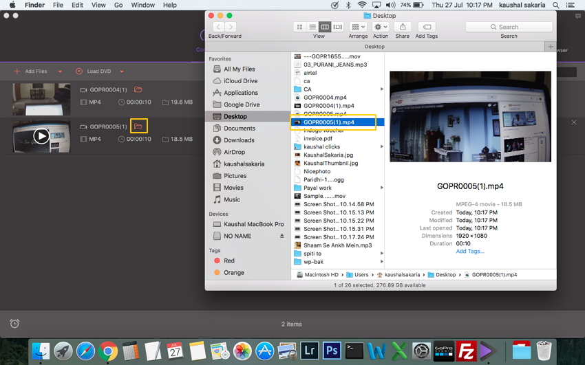 Find Camcorder Files on Mac