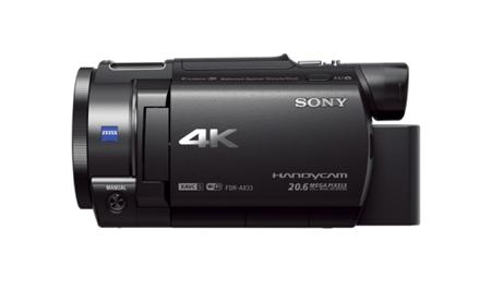 Handycam 4K AX33 avec capteur CMOS Exmor R