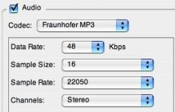change audio size