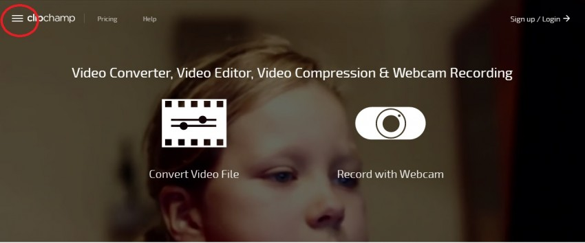 Clipchamp - compresor de video en linea