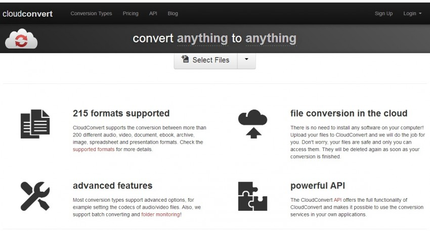Cloudconvert - online video compressor