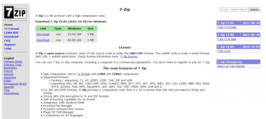 7zip - Compresor de video en Linux