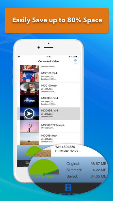 Video Slimmer - Compresor de video en iOS