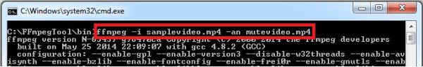 compress video using FFmpeg