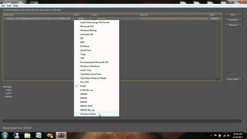 Adobe Media Encoder - how to compress video for web