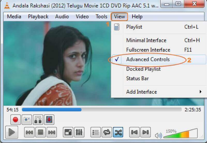 use VLC resize video by cutting video