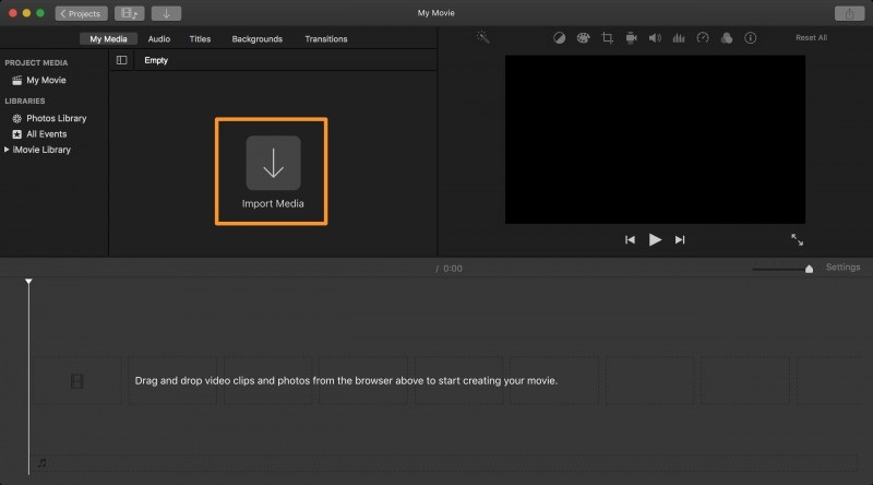 Video in iMovie importieren