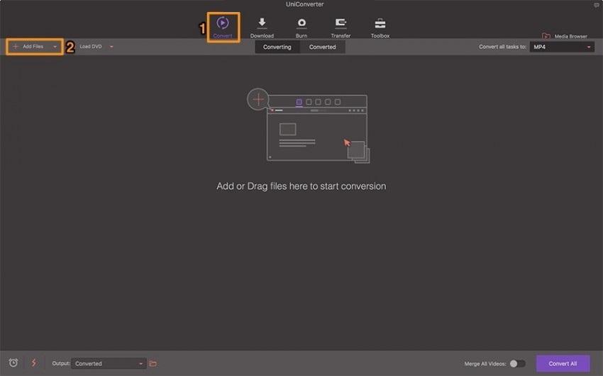 Die Videodatei in das QuickTime Videokomprimierungs-Tool laden