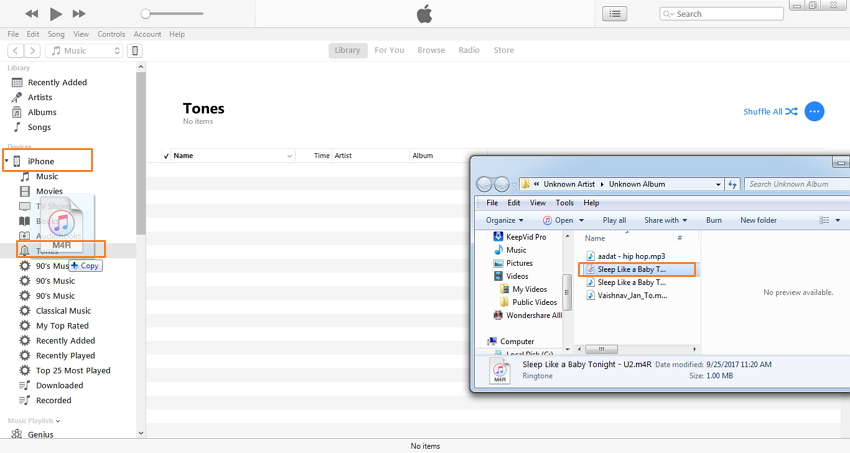 convertir mp3 a tono de llamada iphone con itunes-sincronizar .m4r a iphone