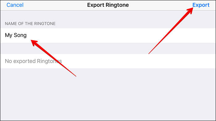 turn mp3 to iphone with garageband-export iphone ringtone