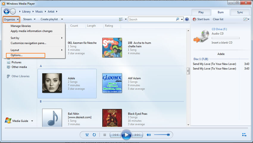 converti mp3 in wav-ottieni opzioni windows