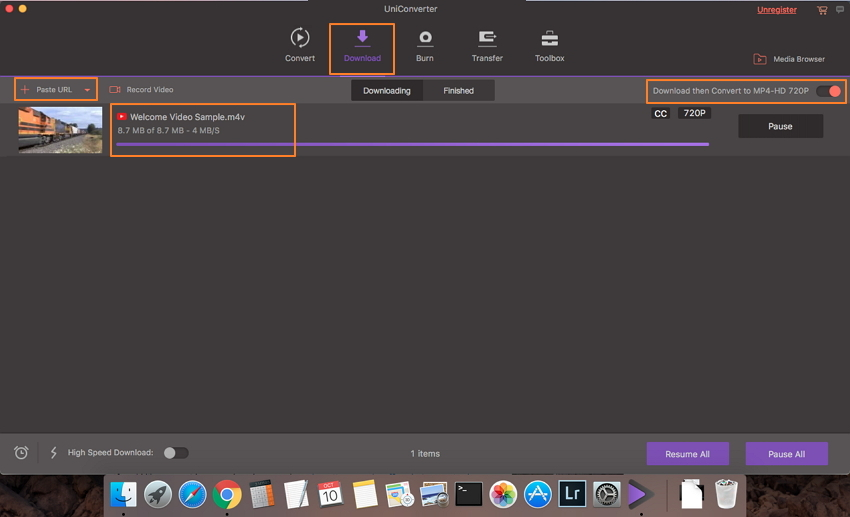 Convertir de iTunes M4V a MP4 descargando el video de YouTube