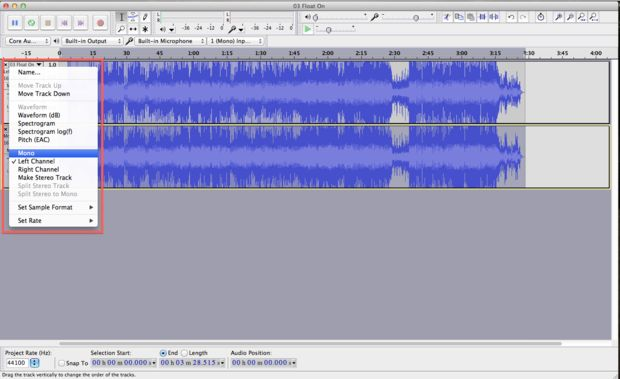 remove mp3 vocal-invert bottom track