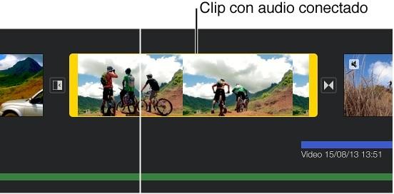 diviser le clip audio en imovie