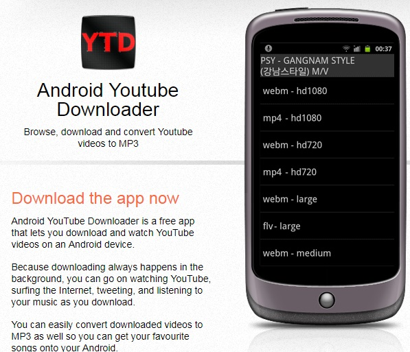 youtube vers mp3 convertisseur-android youtube downloader