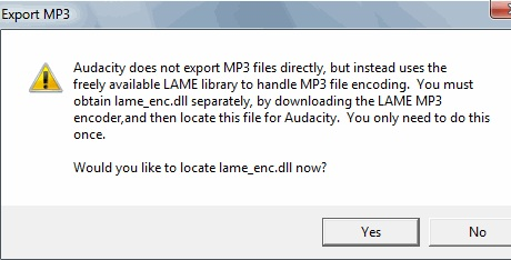 Audiodatei in mp3 exportieren