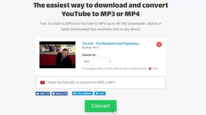 convert youtube track to mp3