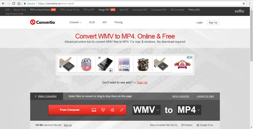 free online convert wmv to mp4