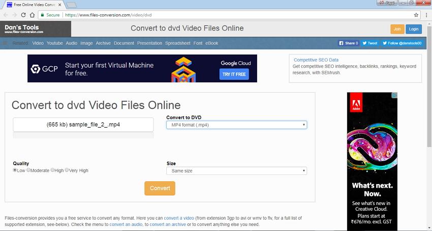 MP4 to DVD Converter Online